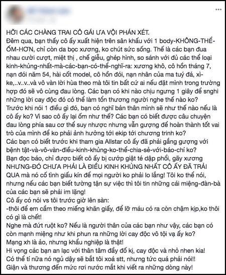 Cao Ngan bi goi la 'bo xuong di dong': Loi khong phai do co ay! - Anh 3