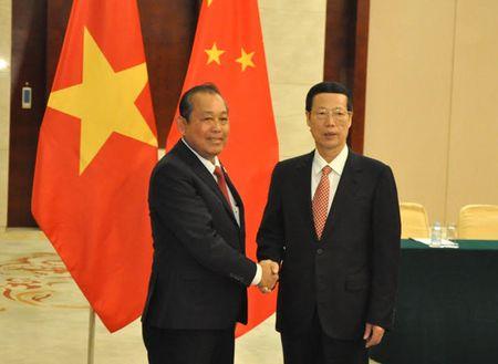PTT thuong truc Truong Hoa Binh hoi kien PTT Trung Quoc Truong Cao Le - Anh 1