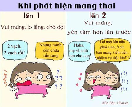 Khong ngo sinh con lan dau va lan hai lai khac nhau nhieu the nay! - Anh 1