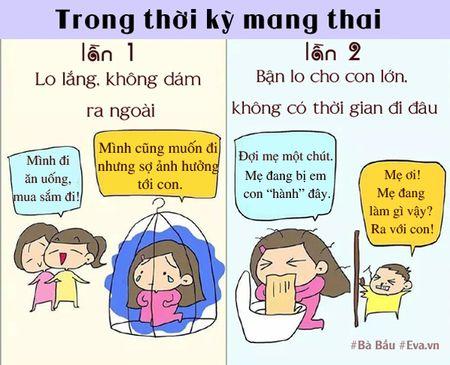 Khong ngo sinh con lan dau va lan hai lai khac nhau nhieu the nay! - Anh 2