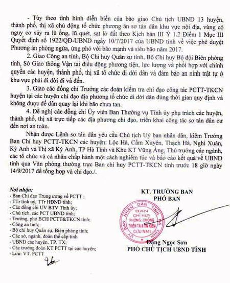 Ha Tinh: Phat lenh so tan dan, ung pho voi bao so 1 - Anh 2