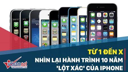 Tu iPhone dau tien den iPhone X: Hanh trinh 10 nam 'lot xac' - Anh 1