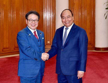 Thu tuong tiep Bo truong Kinh te, Thuong mai va Cong nghiep Nhat Ban - Anh 1