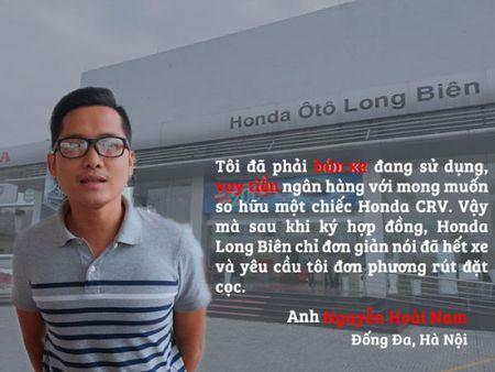 Vu 'map mo' gia xe Honda CRV: Phai ban xe, vay tien ngan hang nhung nhan qua dang - Anh 1