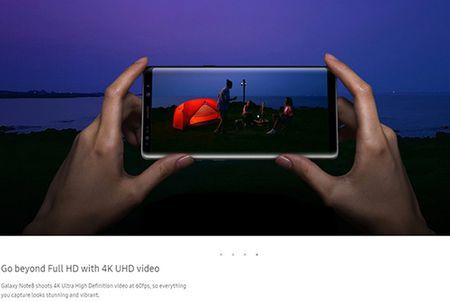 Samsung nang cap quay video cho Note 8 de doi dau iPhone X - Anh 1