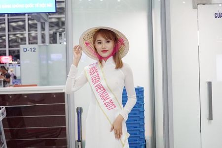 Nu sinh Miss Teen Viet dien ao dai, non la dai nao san bay Han Quoc - Anh 12