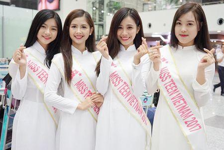 Nu sinh Miss Teen Viet dien ao dai, non la dai nao san bay Han Quoc - Anh 2