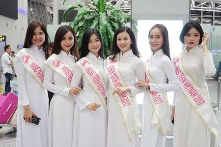 Nu sinh Miss Teen Viet dien ao dai, non la dai nao san bay Han Quoc - Anh 5