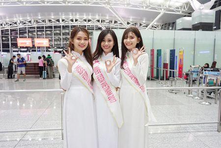 Nu sinh Miss Teen Viet dien ao dai, non la dai nao san bay Han Quoc - Anh 7