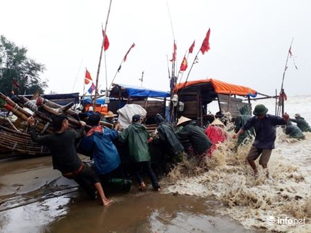 Thanh Hoa: Nguoi dan dam mua keo be tranh bao - Anh 2