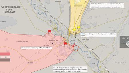 Quan doi Syria bang qua Euphrates danh IS, nguoi Kurd dua chiem dat (video) - Anh 3