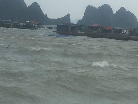 Quang Ninh: Song lon danh chim 2 tau - Anh 1