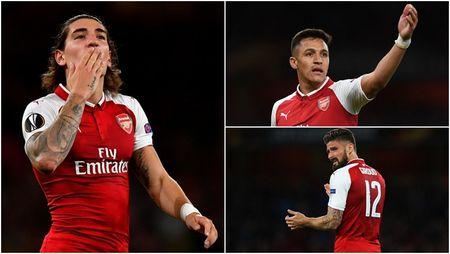 Cham diem Arsenal 3-1 FC Cologne: Bellerin che mo Sanchez - Anh 1