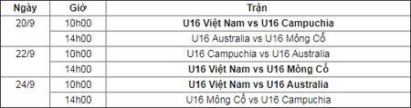 Lich thi dau cua U16 Viet Nam tai vong loai U16 chau A 2018 - Anh 1