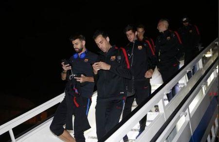 Messi, Suarez khong mot chut lo au khi den Madrid, chuan bi dau Getafe - Anh 4