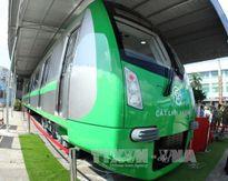 Cẩu lắp đoàn tàu đầu tiên dự án đường sắt đô thị tuyến Cát Linh - Hà Đông
