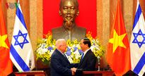 Chùm ảnh: Lễ đón chính thức Tổng thống Israel thăm Việt Nam