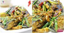 Cá rô phi kho nghệ đậm đà trôi cơm
