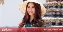 Hoa khôi Tường Linh xinh đẹp trong tà áo dài, tham quan chùa cổ nhất Thái Lan