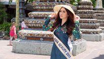 Người đẹp Việt diện áo dài, khoe dáng bên ngôi chùa cổ nhất Thái Lan