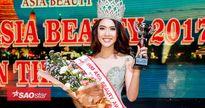 Lẳng lặng đi thi, Hoa khôi Tường Linh bất ngờ đăng quang Miss Asia Beauty 2017