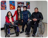 Triển lãm 'Khát vọng ngày mới' của 4 họa sĩ khuyết tật