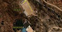 Người Triều Tiên chơi bóng chuyền ở bãi thử hạt nhân