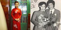 Cô dâu Hà Nội diện lại áo dài của mẹ trong lễ ăn hỏi