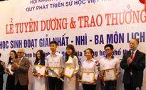 Tuyên dương 134 học sinh giỏi quốc gia môn Lịch sử