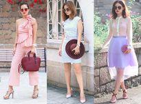 Gợi ý cách mặc trang phục màu pastel dễ thương siêu cuốn hút từ blogger thời trang Mayo Wo