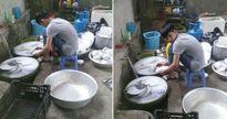 Bức ảnh em trai cặm cụi rửa 6 mâm bát đĩa thay cho chị gái đau tay khiến dân tình 'dậy sóng'