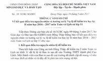 Công văn Sở GD&ĐT Đồng Tháp về nguyên nhân vụ lộ đề thi lớp 11