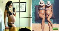 Loạt kiều nữ bụng lớn vượt mặt vẫn mặc bikini cực 'bạo'