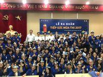 Cựu thủ quân ĐT Việt Nam Lê Công Vinh dự Lễ ra quân tiếp sức mùa thi