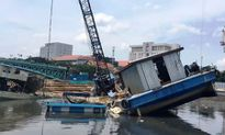 Hai sà lan lật nghiêng, đè chìm thuyền trên kênh Tàu Hủ