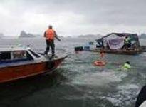 Va vào vật thể lạ, tàu hàng cùng 10 ngư dân bị chìm ngoài khơi đảo Cồn Cỏ
