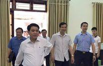 Chủ tịch Hà Nội đang công bố dự thảo kết quả thanh tra đất Đồng Tâm