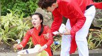 Vương Lệ Khôn vấp tà áo, ngã mạnh khi quay Amazing Race ở Sài Gòn
