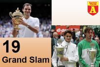 13 bại tướng từ 10 quốc gia trong 19 lần vô địch của thiên tài Roger Federer