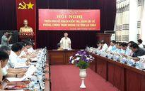 Đoàn công tác Trung ương kiểm tra phòng chống tham nhũng tại Lai Châu