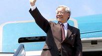 Tổng bí thư Nguyễn Phú Trọng cùng đoàn cấp cao thăm Campuchia