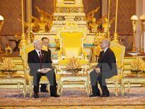 Tổng bí thư Nguyễn Phú Trọng hội đàm Quốc vương Campuchia