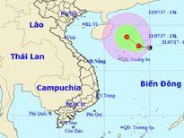 Biển Đông xuất hiện áp thấp nhiệt đới thứ 5 trong năm