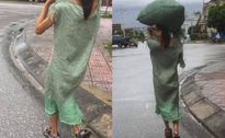 Diện 'váy bao tải' lạ lẫm trên đường phố, cô gái khiến nhiều người xót xa