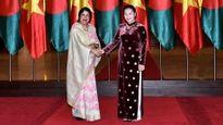 Chủ tịch QH Nguyễn Thị Kim Ngân đón, hội đàm với Chủ tịch QH Băng-la-đét S.Chao-đu-ri