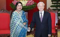 Tổng Bí thư Nguyễn Phú Trọng tiếp Chủ tịch Quốc hội Bangladesh