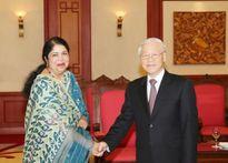 Tổng Bí thư Nguyễn Phú Trọng tiếp Chủ tịch Quốc hội Băng-la-đét