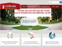 Tra cứu online kết quả xét tuyển đại học 2017 của 39 trường phía Bắc