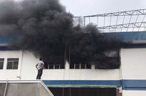 Hàng trăm công nhân mắc kẹt trèo xe thang thoát đám cháy