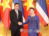 Chủ tịch Quốc hội đón, hội đàm với Chủ tịch Hội đồng Lập pháp Thái Lan